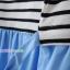 ชุดคลุมท้องเปิดให้นมแขนยาว : สีฟ้า-ขาว รหัส MN049 thumbnail 14