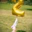 """ลูกโป่งฟอยล์รูปตัวเลข 0 สีทอง ไซส์จัมโบ้ 40 นิ้ว - Number 0 Shape Foil Balloon Size 40"""" Gold Color thumbnail 7"""