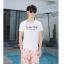 ชุดเสื้อคู่รักเที่ยวทะเล ชายเสื้อยืดพร้อมกางเกงขาสั้น + เดรสแขนยาว สีชมพู แต่งลายดอกไม้ +พร้อมส่ง สำเนา thumbnail 19