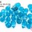 ลูกปัดแก้ว ทรงหยดน้ำ สีฟ้าน้ำทะเล 10x15 มิล (1ขีด/100กรัม) thumbnail 1