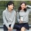 เสื้อกันหนาวคู่รักพร้อมส่ง แฟชั่นคู่รัก ชาย +หญิงเสื้อกันหนาวแบบสวม มีฮูด สีเทา thumbnail 9