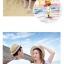 เสื้อคู่รัก ชุดคู่รักเที่ยวทะเลชาย +หญิง เสื้อยืดสีขาวลายคนยืนดูท้องฟ้า กางเกงขาสั้นลายแถบสี โทนสีรุ้ง +พร้อมส่ง+ thumbnail 7