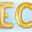 """ลูกโป่งฟลอย์รูปตัวอักษร C สีทอง ไซส์จัมโบ้ 40 นิ้ว - C Letter Shape Foil Balloon Size 40"""" Gold Color thumbnail 3"""