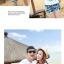 เสื้อคู่รัก ชุดคู่รักเที่ยวทะเลชาย +หญิง เสื้อยืดสีขาวลายเกาะทะเล กางเกงขาสั้นโทนสีฟ้าสลับชมพู+พร้อมส่ง+ thumbnail 5