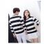 เสื้อแขนยาวคู่รัก เสื้อผ้าแฟชั่น ชาย +หญิง เสื้อแขนยาว รายริ้ว แต่งสีดำสลับสีขาว +พร้อมส่ง+ thumbnail 11
