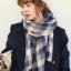 ผ้าพันคอ แต่งลายสก๊อต โทนลายสีน้ำเงิน thumbnail 1