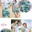 เสื้อคู่รัก ชุดคู่รักเที่ยวทะเลชาย +หญิง เสื้อยืดสีขาวคนนั่งใต้ต้นมะพร้าว กางเกงขาสั้นสีเขียว +พร้อมส่ง+ thumbnail 2