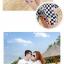 เสื้อคู่รัก ชุดคู่รักเที่ยวทะเลชาย +หญิง เสื้อยืดสีขาวลายหนวด กางเกงขาสั้นลายตารางดำขาว +พร้อมส่ง+ thumbnail 6