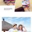 เสื้อคู่รัก ชุดคู่รักเที่ยวทะเลชาย +หญิง เสื้อยืดสีขาวลายคนยืนดูท้องฟ้า กางเกงขาสั้นลายแถบสี โทนสีรุ้ง +พร้อมส่ง+ thumbnail 6