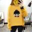 เสื้อแขนยาวแฟชั่นพร้อมส่ง เสื้อแขนยาวสีเหลือง แต่งสกรีนรูปตุ๊กตาน่ารัก +พร้อมส่ง+ thumbnail 3