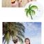 เสื้อคู่รัก ชุดคู่รักเที่ยวทะเลชาย +หญิง เสื้อยืดสีขาวคนนั่งใต้ต้นมะพร้าว กางเกงขาสั้นลายแถบสี +พร้อมส่ง+ thumbnail 6
