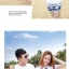 เสื้อคู่รัก ชุดคู่รักเที่ยวทะเลชาย +หญิง เสื้อยืดสีขาวลายหนวด กางเกงขาสั้นโทนสีกรมม่วง +พร้อมส่ง+ thumbnail 5
