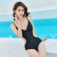 พร้อมส่ง ชุดว่ายน้ำวันพีซโมโนกินี่ Monokini สีดำ สายด้านหลังปรับใส่ได้ทั้งตรงและไขว้หลังสุดเย้ายวน thumbnail 9