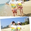 เสื้อคู่รัก ชุดคู่รักเที่ยวทะเลชาย +หญิง เสื้อยืดสีขาวลายคู่รักขับรถเที่ยวชายหาด กางเกงขาสั้นลายแถบสี +พร้อมส่ง+ thumbnail 6