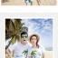 เสื้อคู่รัก ชุดคู่รักเที่ยวทะเลชาย +หญิง เสื้อยืดสีขาวคนนั่งใต้ต้นมะพร้าว กางเกงขาสั้นสีเขียว +พร้อมส่ง+ thumbnail 4