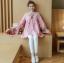 K115340 เสื้อคลุมท้องแฟชั่้นเกาหลี โทนสีชมพูแต่งลายปักรูปสัปรด thumbnail 7