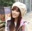 หมวกไหมพรมแฟชั่นเกาหลีพร้อมส่ง ทรงดีไซต์เก๋ ทรงโดมลายกากบาท มีจุก สีครีม thumbnail 2
