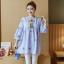 K1153401 เสื้อคลุมท้องแฟชั่้นเกาหลี โทนสีฟ้า thumbnail 4