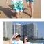 เสื้อคู่รัก ชุดคู่รักเที่ยวทะเลชาย +หญิง เสื้อยืดสีขาวลายคู่รักสวีทเที่ยวทะเล กางเกงขาสั้นสีเขียว +พร้อมส่ง+ thumbnail 4