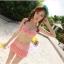 พร้อมส่ง ชุดว่ายน้ำกางเกงกระโปรง เซ็ต 3 ชิ้น สีส้มโอรส (บรา+กางเกงกระโปรง+เสื้อคลุมผ้าซีทรูลายดอกไม้) thumbnail 8