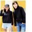 เสื้อกันหนาวคู่รักพร้อมส่ง แฟชั่นคู่รัก ชาย +หญิงเสื้อกันหนาวแบบสวม มีฮูด สีดำ thumbnail 4