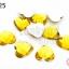 เพชรแต่ง หัวใจ สีเหลืองทอง ไม่มีรู 14มิล(10ชิ้น) thumbnail 1