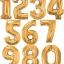 """ลูกโป่งฟลอย์รูปตัวเลข 6 สีทอง ไซส์จัมโบ้ 40 นิ้ว - Number 6 Shape Foil Balloon Size 40"""" Gold Color thumbnail 3"""