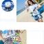 เสื้อคู่รัก ชุดคู่รักเที่ยวทะเลชาย +หญิง เสื้อยืดสีขาวลายสวีทริมทะเล กางเกงขาสั้นลายต้นมะพร้าวโทนสีฟ้า +พร้อมส่ง+ thumbnail 4