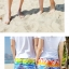 เสื้อคู่รัก ชุดคู่รักเที่ยวทะเลชาย +หญิง เสื้อยืดสีขาวลายสวีทริมทะเล กางเกงขาสั้นลายไทยโทนสีส้ม +พร้อมส่ง+ thumbnail 7