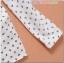 เสื้อคลุมท้องลายไม้แขนยาว ลายดอกไม้ : สีขาว รหัส SH178 thumbnail 11