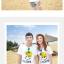 เสื้อคู่รัก ชุดคู่รักเที่ยวทะเลชาย +หญิง เสื้อยืดสีขาวลายยิ้ม I Love กางเกงขาสั้นลายเส้น +พร้อมส่ง+ thumbnail 2