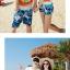 เสื้อคู่รัก ชุดคู่รักเที่ยวทะเลชาย +หญิง เสื้อยืดสีขาวลายคู่รักนอนตากแดด กางเกงขาสั้นลายแฉกโทนสีฟ้า +พร้อมส่ง+ thumbnail 8