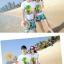 เสื้อคู่รัก ชุดคู่รักเที่ยวทะเลชาย +หญิง เสื้อยืดสีขาวลายต้นมะพร้าว กางเกงขาสั้นสีเขียว +พร้อมส่ง+ thumbnail 4