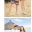 เสื้อคู่รัก ชุดคู่รักเที่ยวทะเลชาย +หญิง เสื้อยืดสีขาวลายยิ้ม I Love กางเกงขาสั้นลายแถบสี โทนสีรุ้ง +พร้อมส่ง+ thumbnail 3