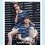 +พร้อมส่ง+ เสื้อคู่รักเกาหลี แฟชั่นคู่รัก ชายหญิง เสื้อยืดคอกลม ลายริ้ว สีน้ำเงินสลับขาว thumbnail 4