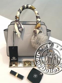 KEEP Saffiano Leather Mini Office Bag