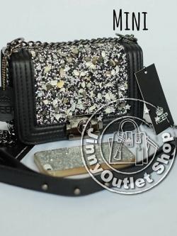 KEEP ( Shoulder Diamond Chain Bag - Mini )