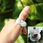 แหวนหยกพม่า สลักปี่เซี๊ยะ