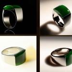 แหวนหยก Nephrite สีเขียวจักรพรรดิ