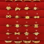 แหวนทองแท้ 96.5% หนัก 0.6 กรัม size 52