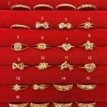 แหวนทองแท้ 96.5% หนัก 0.6 กรัม size 54