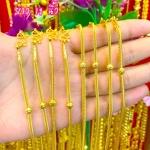 สร้อยคอทองแท้ 96.5% ลายเบนซ์ขั้นประคำ หนัก 2 สลึง
