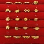 แหวนทองแท้ 96.5% หนัก 0.6 กรัม size 49