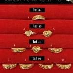 แหวนทองแท้ 96.5% หนัก 0.6 กรัม size 44-45-46