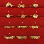 แหวนทองแท้ 96.5% หนัก 0.6 กรัม size 58