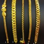 สร้อยคข้อมือ ทองแท้ 96.5% หนัก 1 บาท/ยาว 19 cm.