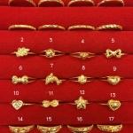 แหวนทองแท้ 96.5% หนัก 0.6 กรัม size 55
