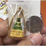 จี้พระแก้วมรกต องค์ลอย เลี่ยมกรอบทองแท้ 90%