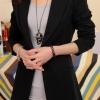 เสื้อสูททำงาน พร้อมส่ง เสื้อสูทสีดำ ตัวยาวคลุมสะโพก แขนยาว ติดกระดุมเม็ดเดียวเก๋ งานสวยเหมือนแบบแป๊ะค่ะ