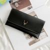 กระเป๋าสตางค์ผู้หญิง Leather 001 สีดำ